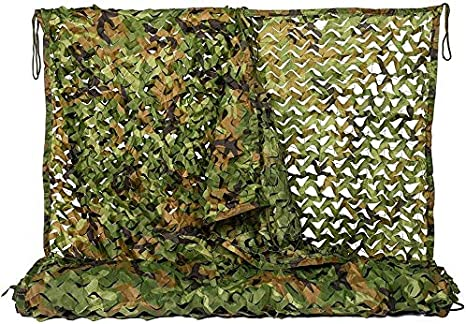 XWYWZW Cuerda de protección Solar Tejido de Camuflaje Neto pérgola Cubierta de Copas Lona Oxford Tela Militar for el jardín al Aire Libre W6Z8W3: Amazon.es: Deportes y aire libre