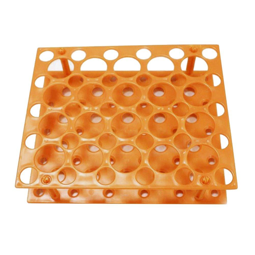 UKCOCO Rack per tubi in plastica rimovibili, 2 strati 50 fori Supporto per provetta per centrifuga Supporto per esperimento scientifico da laboratorio (15 ml/50 ml)