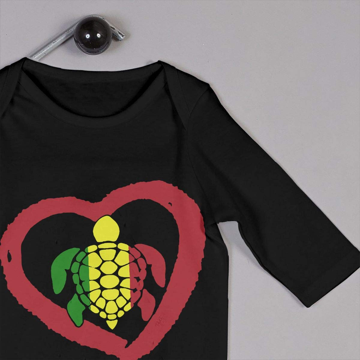 Long Sleeve Cotton Bodysuit for Baby Girls Boys Fashion Sea Turtle Rasta Reggae Heart Crawler