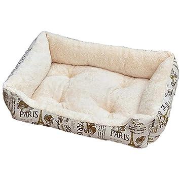 Wuwenw Cama para Perro con Cama De Perro Común para Perros De Cuatro Estaciones De Cama Suave para Perros con Mate Impermeable De Cuatro Piezas, ...