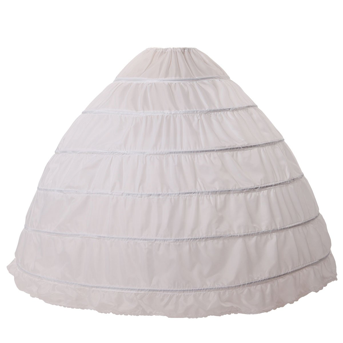 Amazon Com 8 Layer Tulle Hoopless Bridal Petticoat Ball Gown