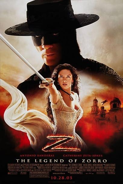 Poster of The Legend of Zorro 2005 Full Hindi Dual Audio Movie Download BluRay Hd 720p
