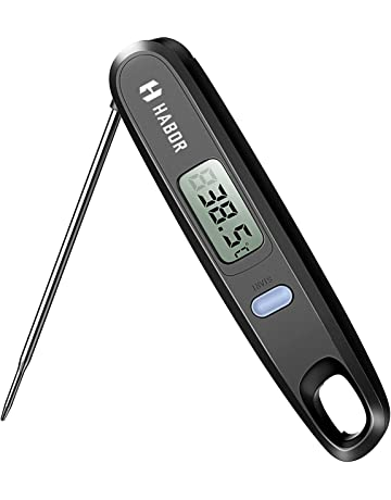 Habor Digital Cooking Thermometer Kitchen Instant Read Sensor With Foldable Probe For Food Baking Liquid
