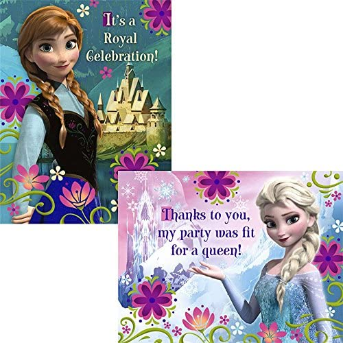 4 PACKAGES OF DISNEY FROZEN INVITATIONS 32 ENVELOPES /& CARDS