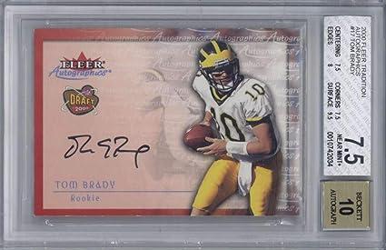 Tom Brady Signed Auto 2000 Fleer Autographics Football Card