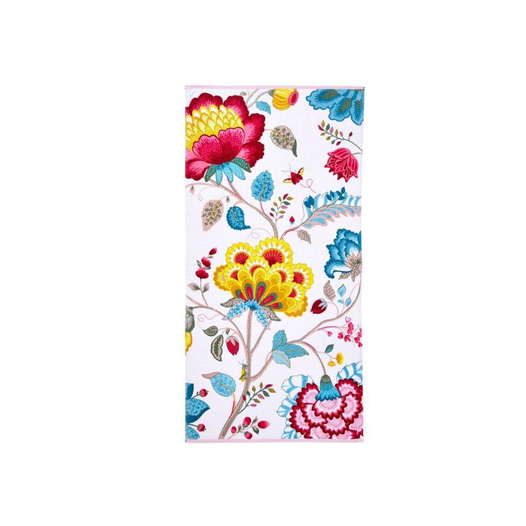 Pip Studio 260256202002 Floral Fantasy toalla (algodón, 70 x 140 cm), color blanco: Amazon.es: Hogar