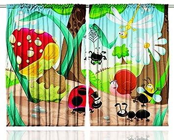 Amazon.com: Cute Jungle Ladybug Mushroom Honey Bee Daisy Spider ...