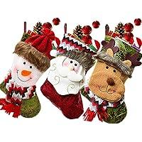 SPECOOL - Medias Colgantes para Navidad, 3 Unidades