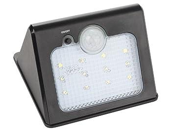 Perel LED Solar Downlight – Lámpara Impermeable con Detector de Movimiento, Exterior