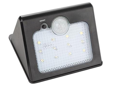 Perel led solare applique da parete lampada impermeabile con sensore