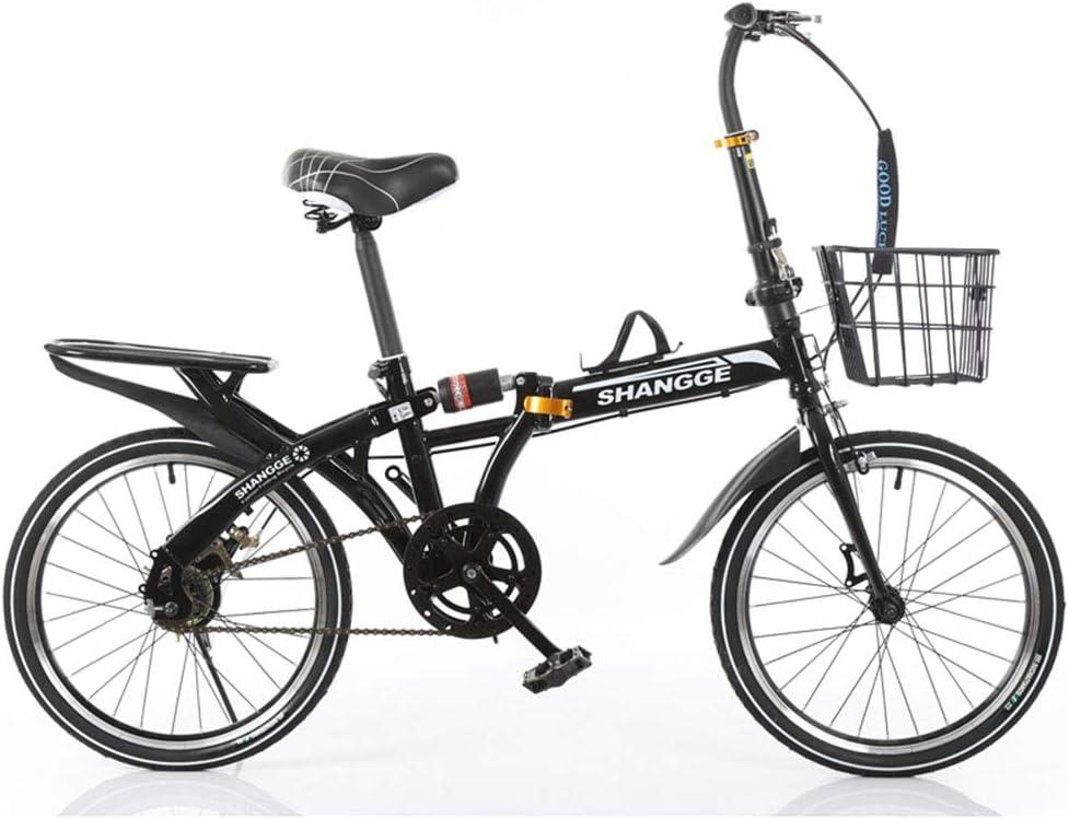 SYCHONG Bicicleta Plegable De 16 Pulgadas, Velocidad Variable ...