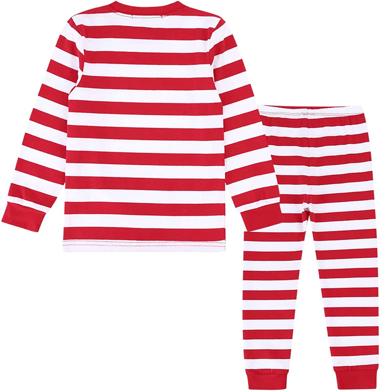 Kidlove Toddlers Long Sleeve T-Shirt Top Striped Pants Outfits Spring Pajamas Set