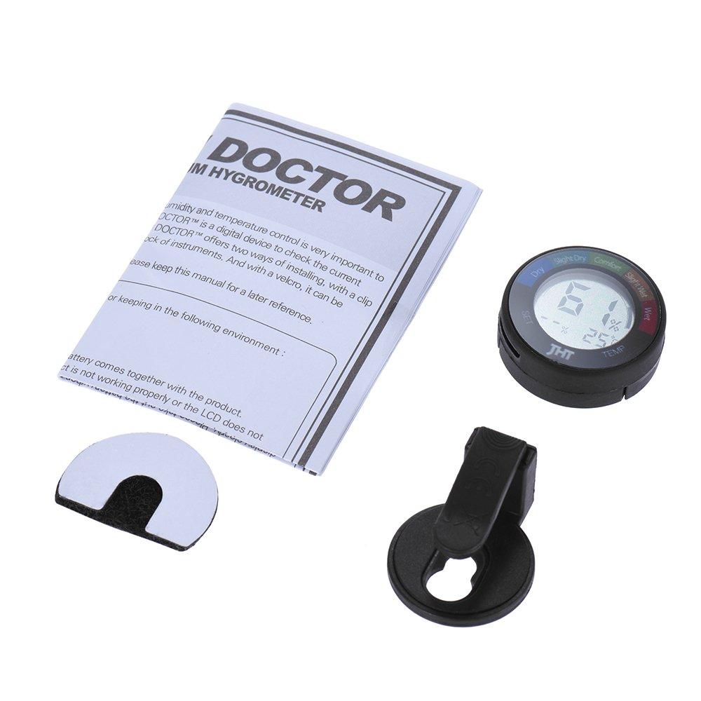Ammoon Mini instrumento digital humedad y sensor de temperatura Tester Termómetro Higrómetro con LCD Pantalla para Piano Guitarra Violín: Amazon.es: Jardín