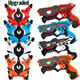 [UPGRADED] VATOS Infrared Laser Tag Gun Set for Kids Adults with Vests 4 Pack,Laser Tag Game 4 Players Indoor Outdoor,Laser Tag Blaster,Group Activity Fun Toy for Kids Age 6 7 8 9 10 11 12+ Boys Girls