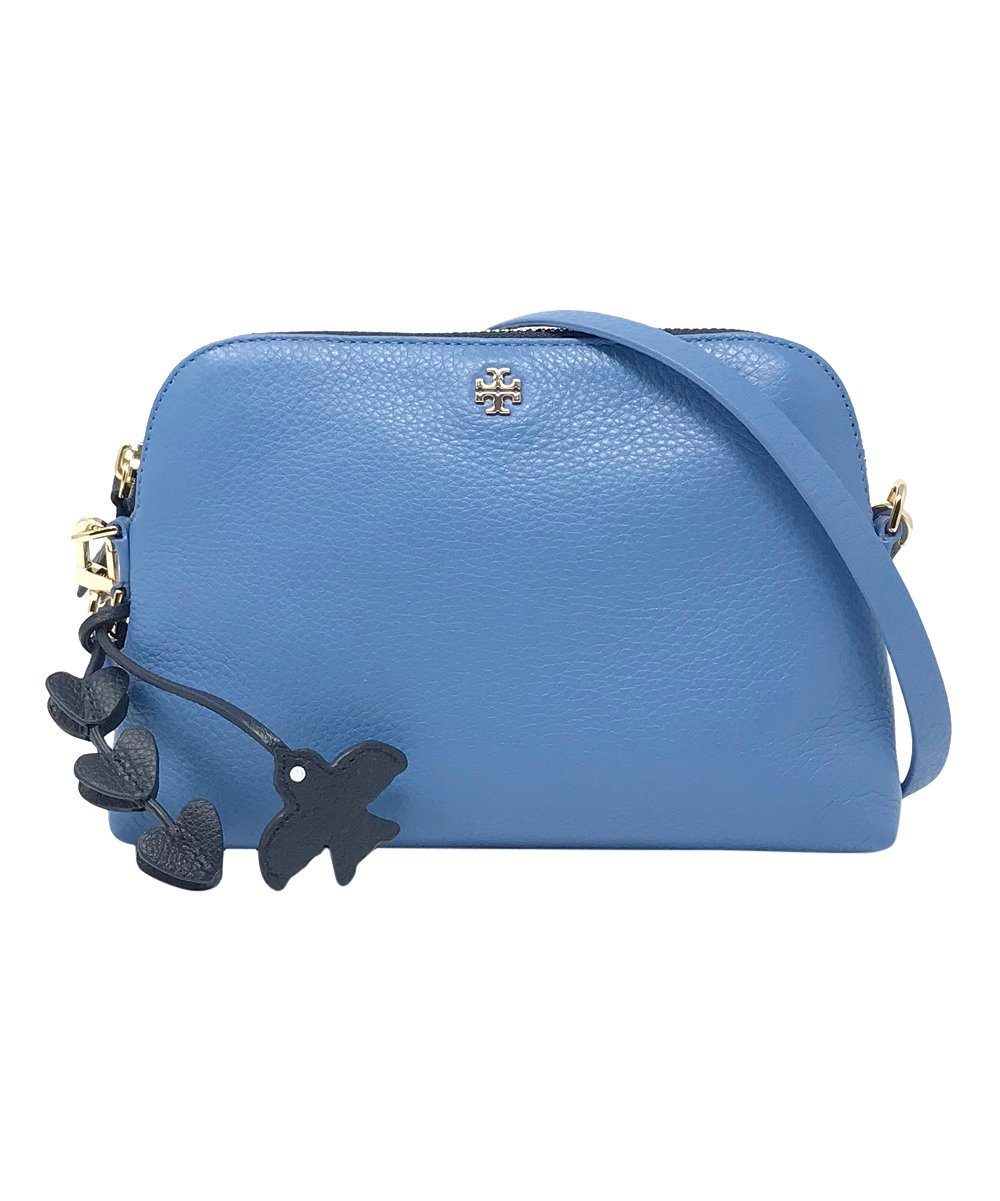 Tory Burch Crossbody Bag Leather Peace Love (Montego Blue)