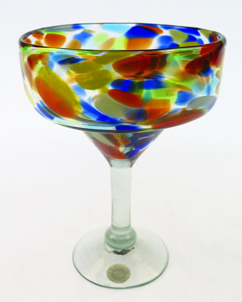 Mexican Margarita Glasses & Pitcher, Confetti Swirl (Set of 4) by Mexican Glass (Image #3)
