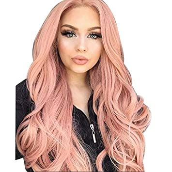 Brown Gradient Blonde Party Color Mixing Wigs Long Curly Hair Synthetic, Hair Wigs Baby Hair