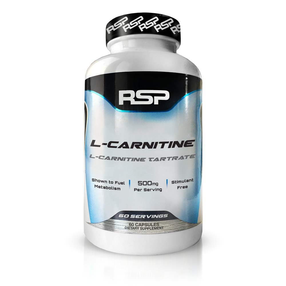 RSP L-Carnitine 500mg, Stimulant Free L Carnitine Capsules, Weight Loss Supplement & Fat Burner for Men & Women, 60 Capsules