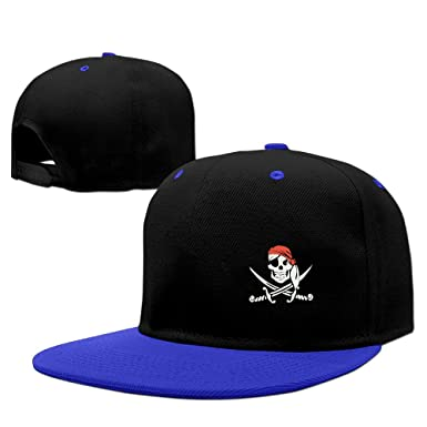 0493cf68082263 Jolly Roger Pirate Flag Skull Buccaneer Unisex Adjustable Sunscreen Trucker  Hat Hip-Hop Caps
