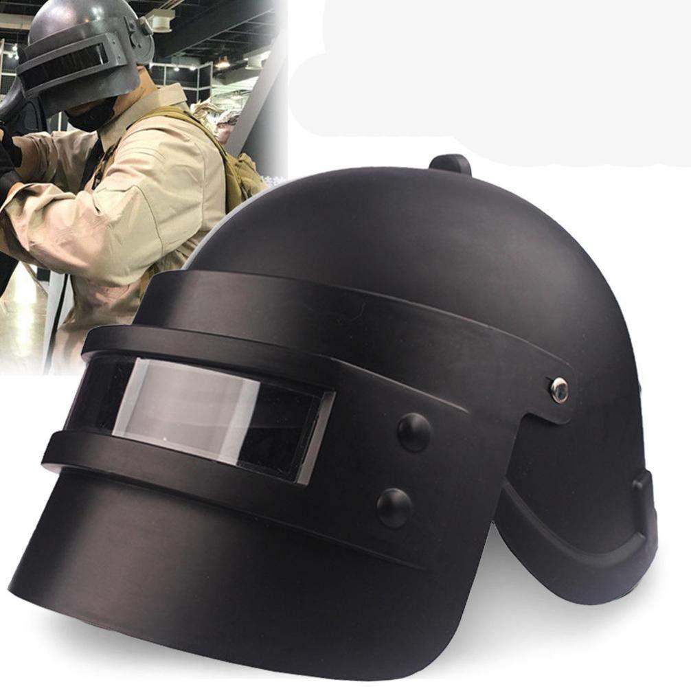 Simulation Battlegrounds Level 3 Helmet Cap Props(25.5x 19x 16cm),123Loop Game Cosplay Mask Battlegrounds Level 3 Helmet Cap Props by 123Loop (Image #1)