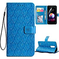 ARSUE LG G7 Case,LG G7 ThinQ Case with HD Screen Protector,PU Leather Wallet Flip Case with Credit Card Slot Holder and Kickstand Mandala Floral Flower Phone Protective for LG G7 ThinQ (2018),