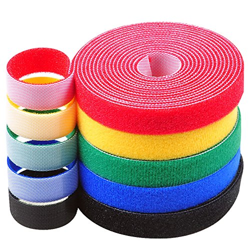 - Darller 5 Roll Reusable Cable Straps Cable Ties Hook & Loop Nylon Fastening Tape Wire Organizer for Cords Cable Management (Totally 33 ft)