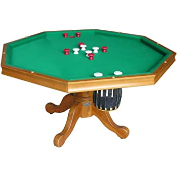 Amazoncom In Game Table Octagon Bumper Pool Poker - Hexagon pool table