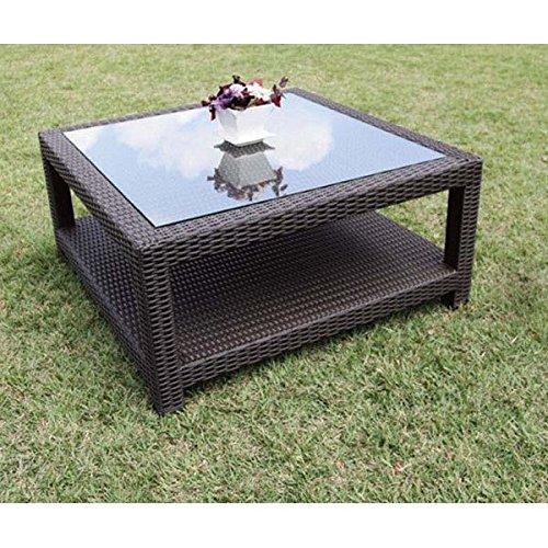 ジャービス商事 人工ラタン ガラスエンドテーブル NH-2050Z #38704 B072Z78XMM