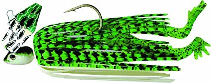 Z-MAN The Original Chatter Frog CFR38-3//8oz Lime Blk Brb Wire