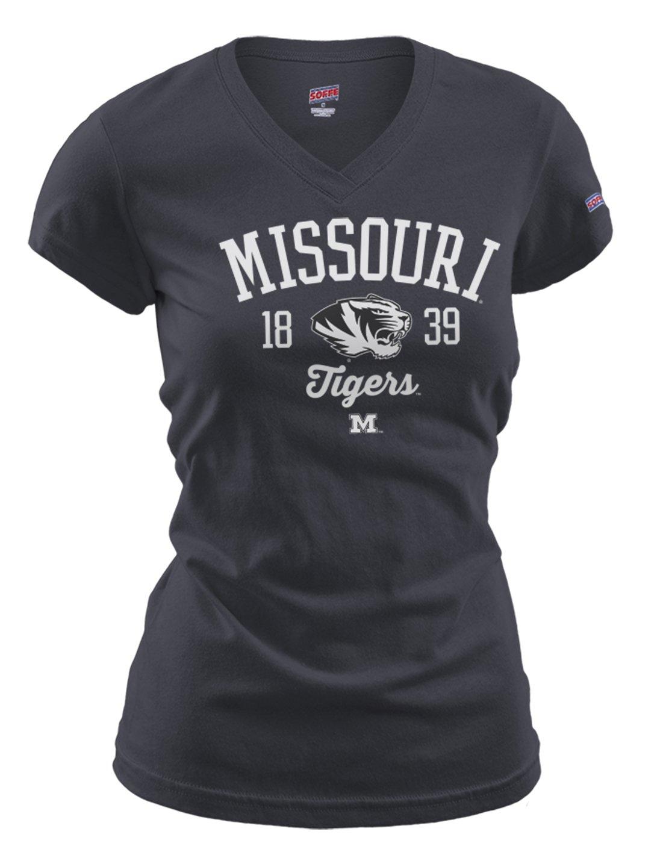 【50%OFF】 NCAA Missouri Tigers NCAA Women Fitted 's Fitted Missouri Collegiate基本的なロゴVネックTee Large B00O58XSPW, コウヤチョウ:9ba59898 --- ceska-porna.cz