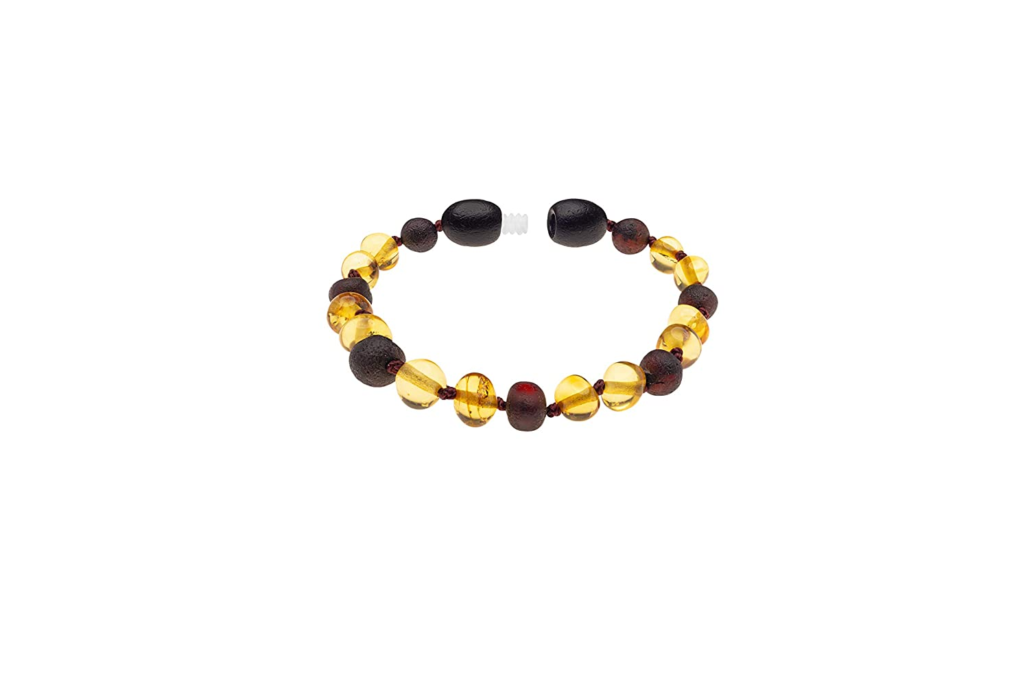 Baltic Amber Natural Necklace and Bracelet Made with Polished Honey and Unpolished Cherry Size 12.5 /& 5.5 Inches Kids AmberSky Polished Honey//Unpolished Cherry 32 /& 14 cm