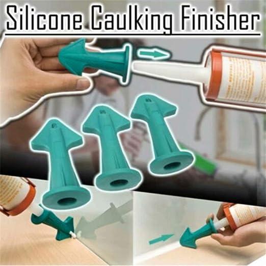 3 in 1 Silicone Caulking Finisher Nozzle Plugs Caulk Spatulas Filler Spreader