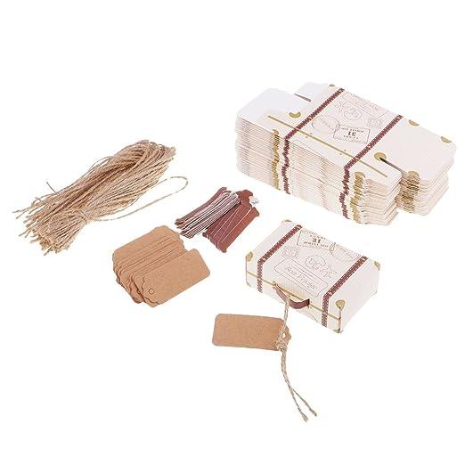 50pcs de Cajas de Papel de Caramelo Diseño de Mini Maleta ...