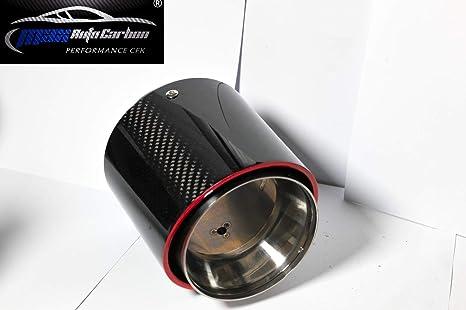 Embout d/'/échappement MAX AUTO carbone pour pot d/'/échappement compatible avec Mini S Cabrio Cooper S JCW F55 F56 F57 /également John Cooper Works.