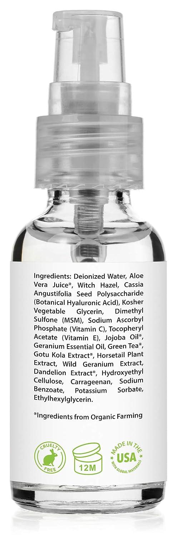 Ácido Hialurónico Suero para la Piel - Con Vitamina C & E - Best Natural & Orgánico Hidratante Rellena Vegano & Hidrata la Piel - Suero de ...