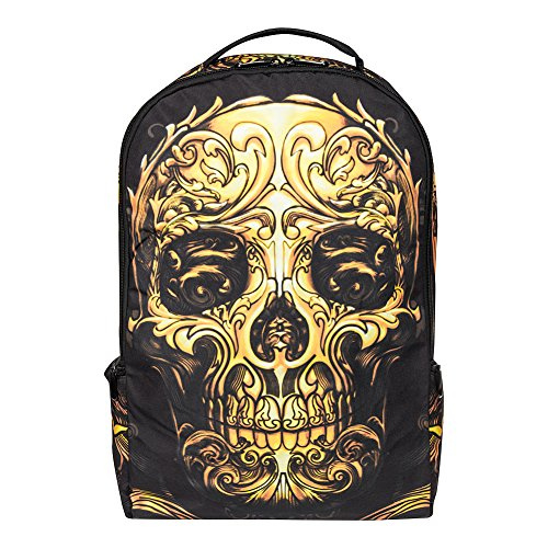 Skull orange Banana Sugar black Backpack Blue fxUSnw