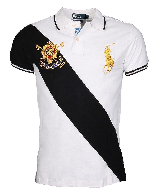 Mens Ralph Lauren Polo Shirt - Crest Blackwatch Custom Fit T Shirt Size M  to XXL (XX-Large): Amazon.co.uk: Clothing