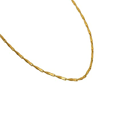 d08f64d846f20 Buy DzineTrendz Brass, Gold Plated, Long Rice Grain Design, Fashion ...