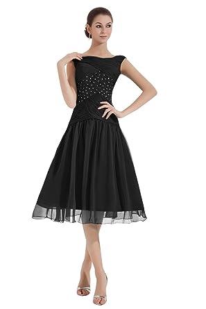 42ec938334e Dora Bridal Women´s Tea-Length Ruched Mother of The Bride Dresses at ...