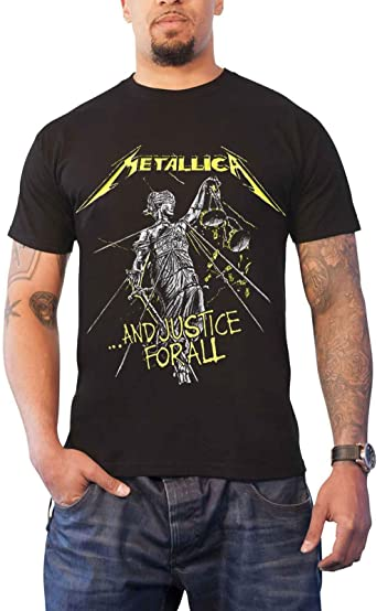 Metallica T Shirt and Justice For All Tracks Nuevo Oficial De Los Hombres: Amazon.es: Ropa y accesorios