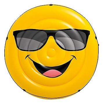 Intex 57254EU - Colchoneta hinchable emoji 173 x 27 cm: Amazon.es: Juguetes y juegos