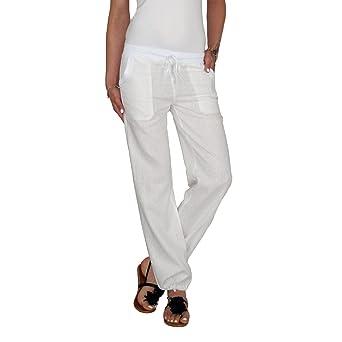 Dresscode-Berlin DB Leichte Damen Leinen Sommerhose in schwarz, taupebraun, blau, grau, weiß, beige, Khaki, hellblau und rot