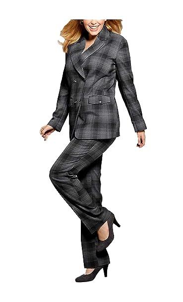 M.I.M. - Pantalón de Traje - Opaco - para Mujer Gris Gris ...