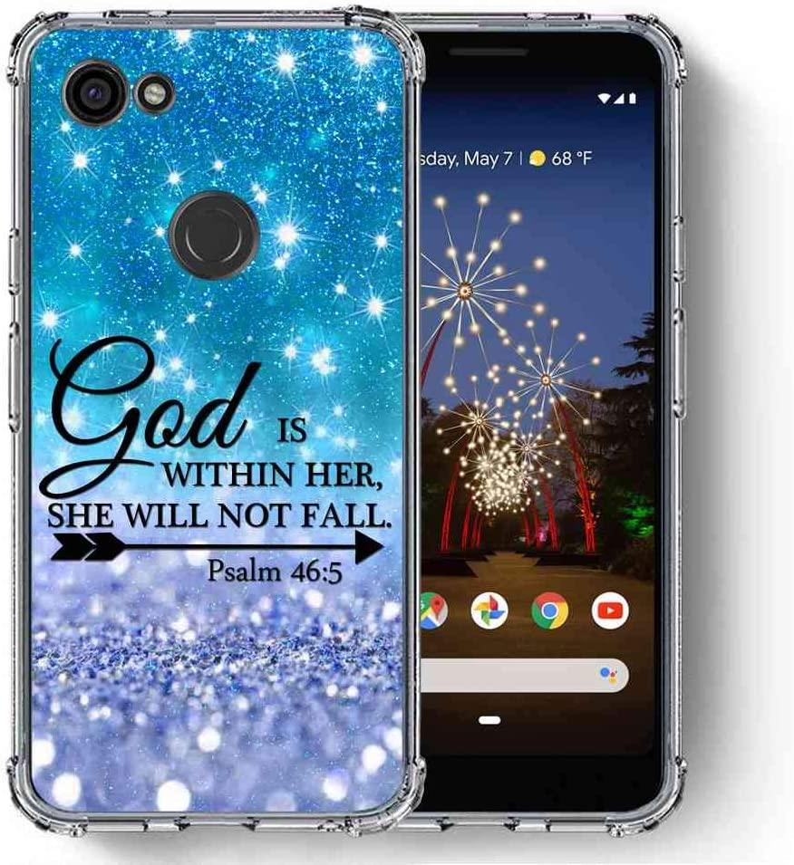 for Google Pixel 3a XL Case (2019), SuperbBeast [Psalm 46:5 God is Within her, she Will not Fall] Ultra Slim Thin Protective Case Cover/Reinforced Corner