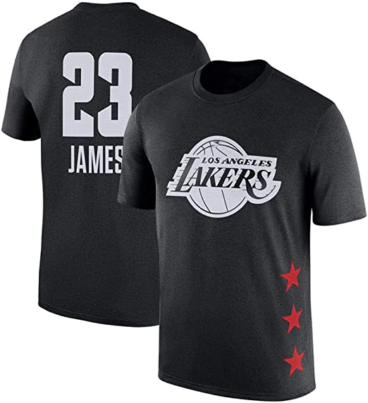 NBA Lakers James Camiseta De Manga Corta De Algodón Moda Deportiva ...