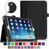 iPad mini Case - Fintie iPad mini 3 / iPad mini 2 / iPad mini Folio Slim Fit Vegan Leather Case with Smart Cover Auto Sleep / Wake Feature, Black