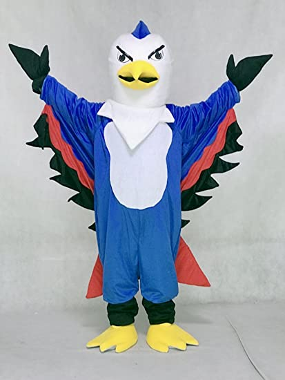 3ccdc932a5e3d Amazon.com : rushopn Cute Blue and Red Thunderbird Mascot Costumes ...