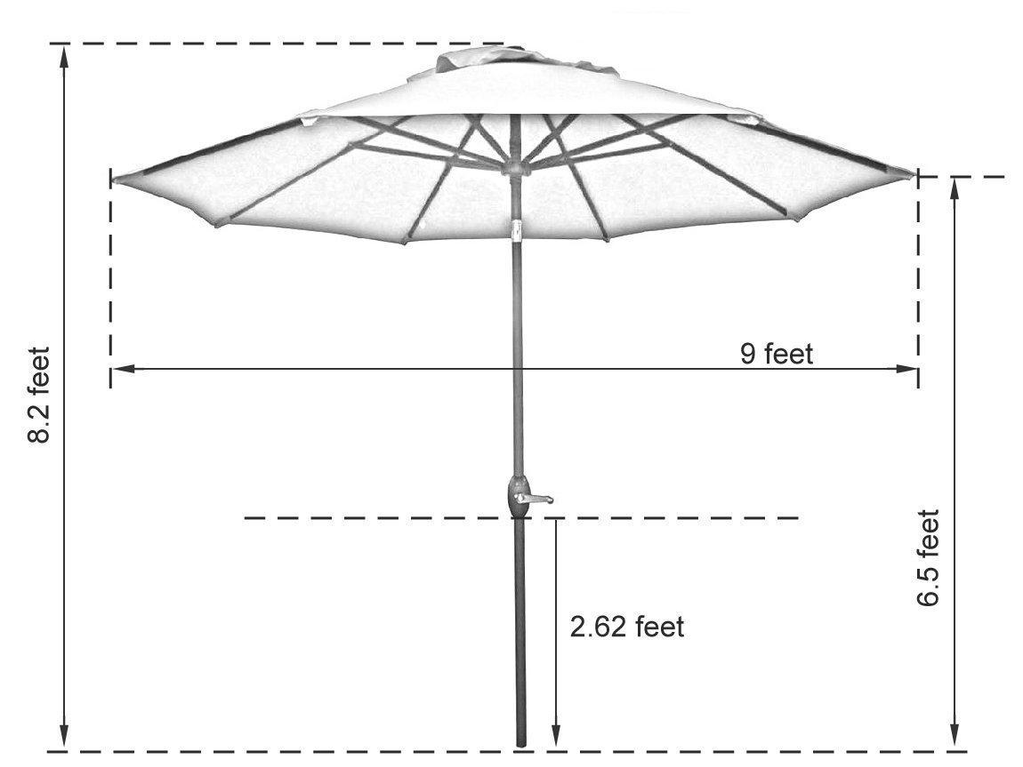Sunbrella Patio Umbrella 9 Ft Outdoor Market Table