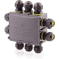 Aansluitdoos Waterdicht   IP68   24A 450V AC   10 openingen   kabeldoorsneden: M25 4-14mm   6-pins installatiebehuizing…