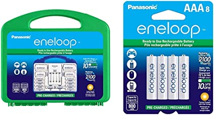 Amazon Com Panasonic Eneloop Power Pack 8aa 2aaa 2 C Adapters 2 D Adapters Advanced Individual Battery Charger And Plastic Storage Case Eneloop Aaa 2100 Cycle Ni Mh Pre Charged Rechargeable Batteries Home Audio